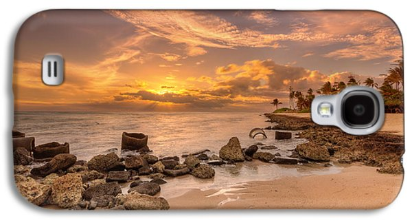 Barbers Point Light House Sunset Galaxy S4 Case
