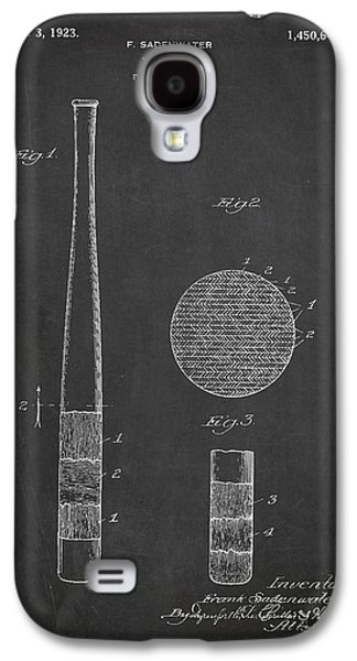 Baseball Bat Patent Drawing From 1920 Galaxy S4 Case by Aged Pixel