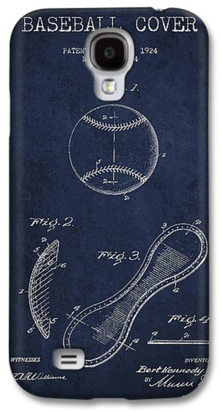 Baseball Bats Galaxy S4 Case - Baseball Cover Patent Drawing From 1924 by Aged Pixel