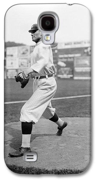 Baseball Star Walter Johnson Galaxy S4 Case by Underwood Archives