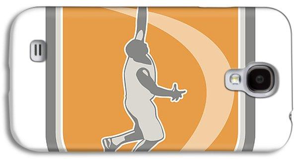 Basketball Player Rebounding Ball Shield Retro Galaxy S4 Case