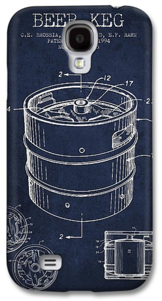 Beer Keg Patent Drawing - Green Galaxy S4 Case by Aged Pixel