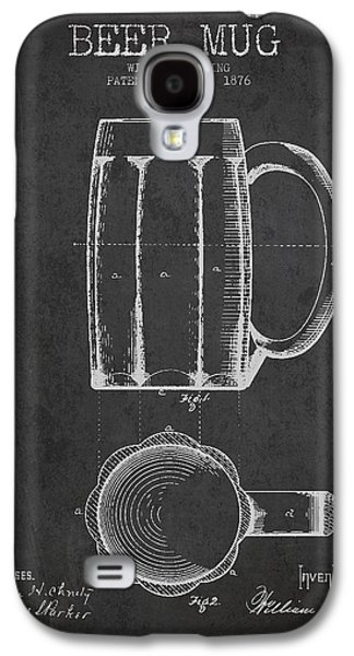 Beer Mug Patent From 1876 - Dark Galaxy S4 Case by Aged Pixel
