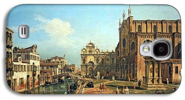 Bellotto's The Campo Di Ss. Giovanni E Paolo In Venice Galaxy S4 Case by Cora Wandel