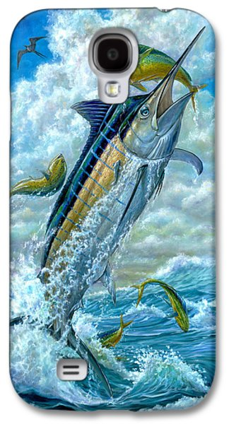 Big Jump Blue Marlin With Mahi Mahi Galaxy S4 Case