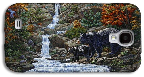 Black Bear Falls Galaxy S4 Case