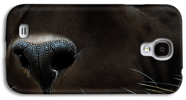 Black Leopard Galaxy S4 Case by Jurek Zamoyski