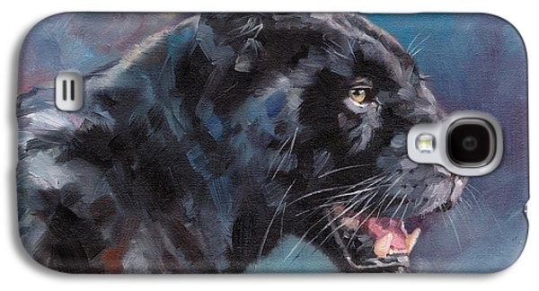 Black Panther Galaxy S4 Case by David Stribbling