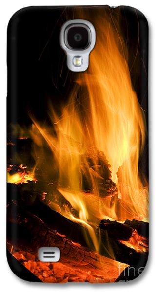 Blazing Campfire Galaxy S4 Case by Jorgo Photography - Wall Art Gallery