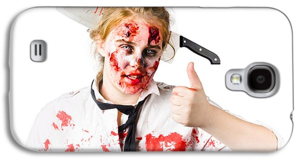 Bloody Woman With Cleaver In Head Galaxy S4 Case by Jorgo Photography - Wall Art Gallery