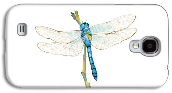 Blue Dragonfly Galaxy S4 Case by Amy Kirkpatrick