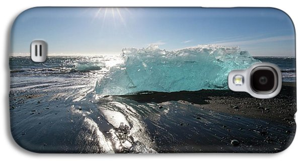 Blue Iceberg On Sandy Beach Galaxy S4 Case by Dr Juerg Alean