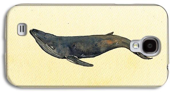 Blue Whale Galaxy S4 Case by Juan  Bosco
