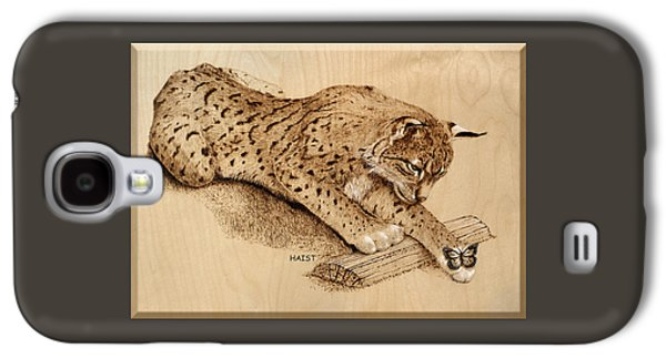 Bobcat And Friend Galaxy S4 Case by Ron Haist
