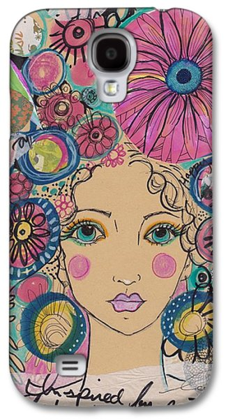 Boho Flower Girl  Galaxy S4 Case