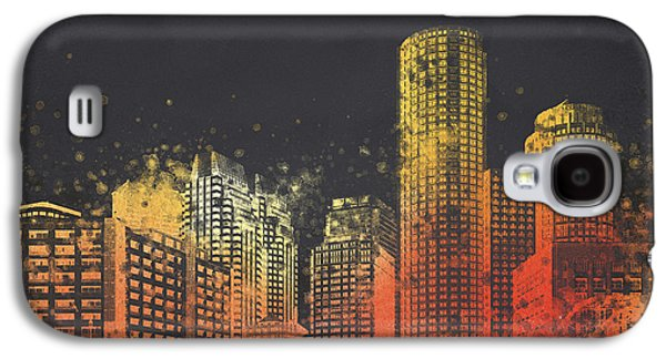 Boston City Skyline Galaxy S4 Case by Aged Pixel