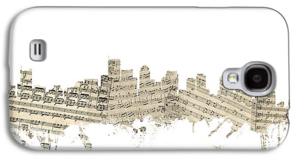 Boston Massachusetts Skyline Sheet Music Cityscape Galaxy S4 Case