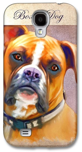 Boxer Dog Art Galaxy S4 Case