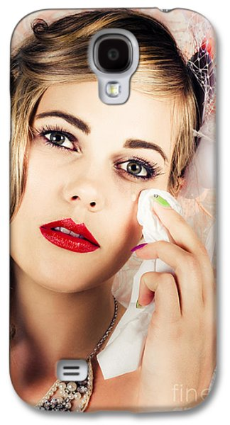 Bride Crying Tears Of Joy During Marriage Vows Galaxy S4 Case by Jorgo Photography - Wall Art Gallery