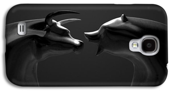 Bull And Bear Market Trend Bronze Castings Galaxy S4 Case