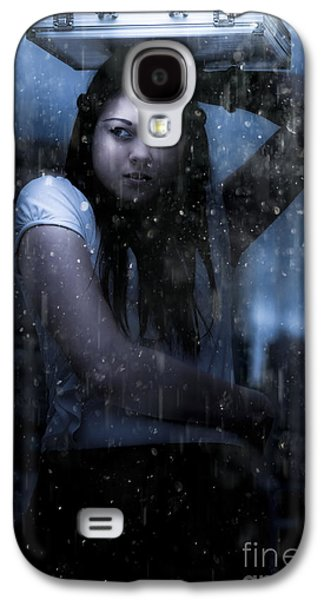 Business Woman Caught In Rain And Bad Weather Galaxy S4 Case by Jorgo Photography - Wall Art Gallery