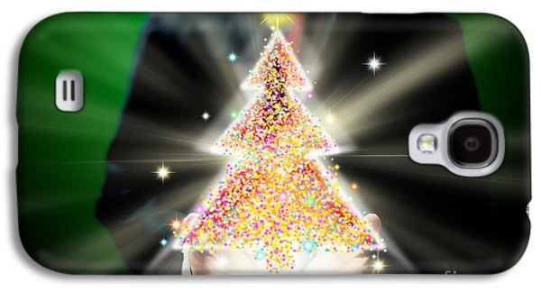 Businessman With Christmas Galaxy S4 Case