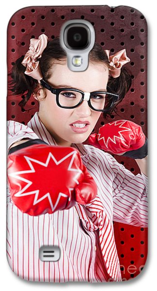Businesswoman Boxing The Competition With Strategy Galaxy S4 Case