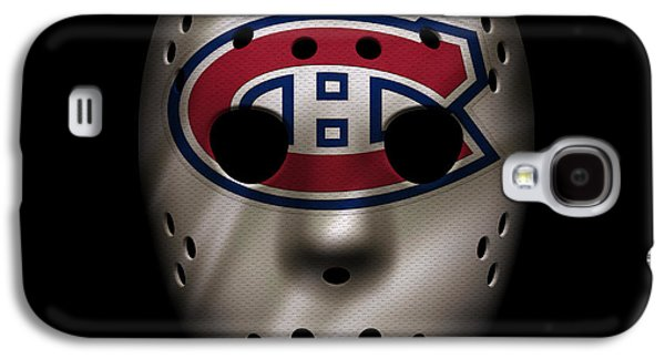Canadiens Jersey Mask Galaxy S4 Case by Joe Hamilton