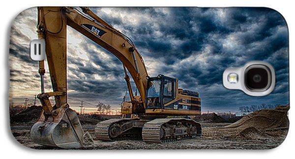 Cat Excavator Galaxy S4 Case