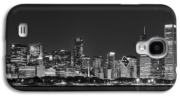 Chicago Skyline At Night Black And White Panoramic Galaxy S4 Case