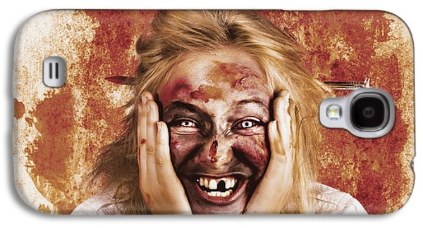 Chilling Female Halloween Spook. Grunge Horror Galaxy S4 Case by Jorgo Photography - Wall Art Gallery