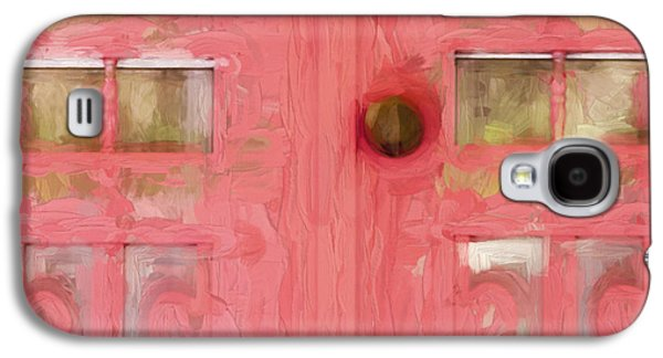 Church Camp House Detail Painterly Series 18 Galaxy S4 Case by Carol Leigh