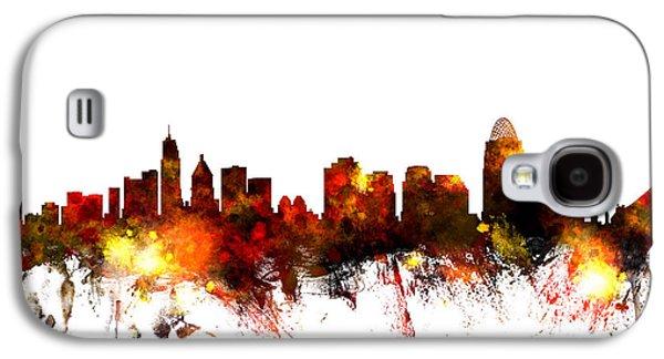 City Scenes Galaxy S4 Case - Cincinnati Ohio Skyline by Michael Tompsett
