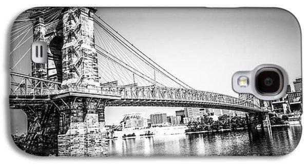 Cincinnati Roebling Bridge Black And White Picture Galaxy S4 Case