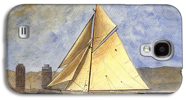 Classic Yacht Barcelona Galaxy S4 Case by Juan  Bosco
