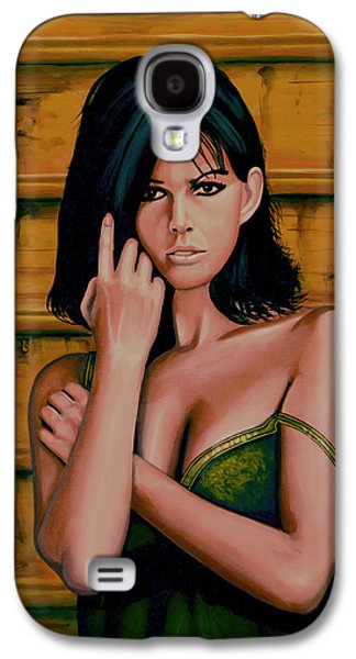 Claudia Cardinale Painting Galaxy S4 Case by Paul Meijering