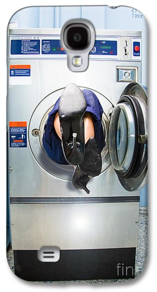 Cleaning Lady Trapped In Washing Machine Galaxy S4 Case