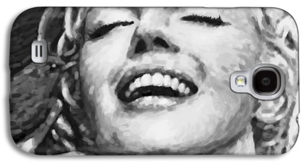 Close Up Beautifully Happy In Black And White Galaxy S4 Case