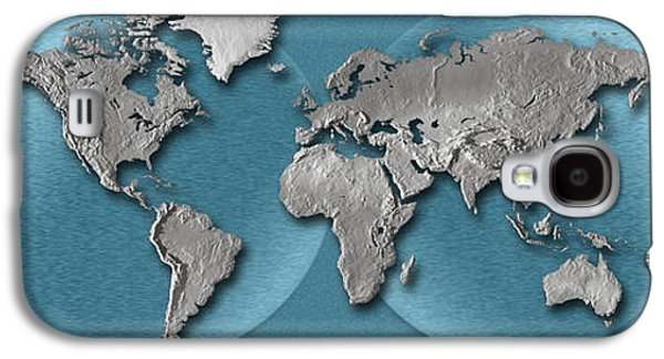 Close-up Of A World Map Galaxy S4 Case by Panoramic Images
