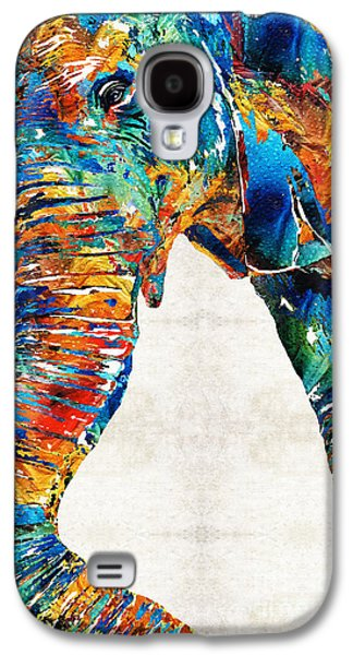 Colorful Elephant Art By Sharon Cummings Galaxy S4 Case by Sharon Cummings