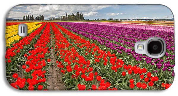 Colorful Field Of Tulips Galaxy S4 Case by Pierre Leclerc Photography