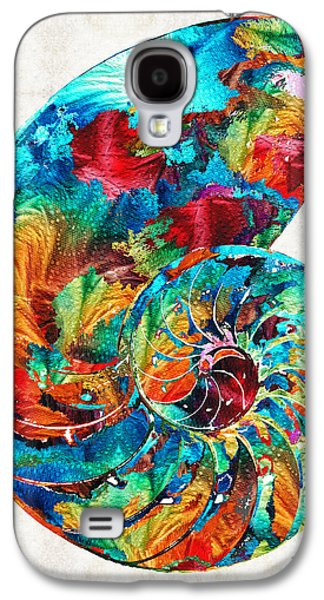 Colorful Nautilus Shell By Sharon Cummings Galaxy S4 Case by Sharon Cummings