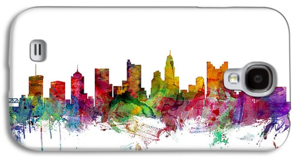 City Scenes Galaxy S4 Case - Columbus Ohio Skyline by Michael Tompsett