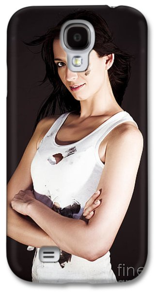 Confident Female Tradesman Gets Job Done Galaxy S4 Case by Jorgo Photography - Wall Art Gallery
