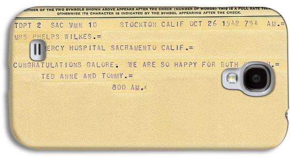 Congratulatory Telegram Galaxy S4 Case by Underwood Archives