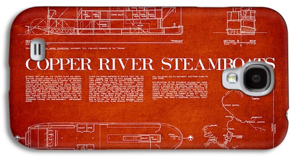 Copper River Steamboats Blueprint Galaxy S4 Case by Aged Pixel