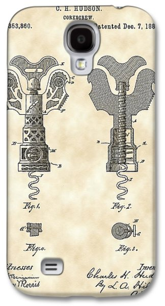 Corkscrew Patent 1886 - Vintage Galaxy S4 Case by Stephen Younts
