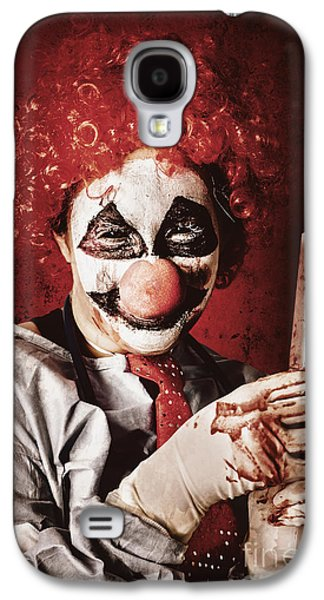 Crazy Medical Clown Holding Oversized Syringe Galaxy S4 Case by Jorgo Photography - Wall Art Gallery
