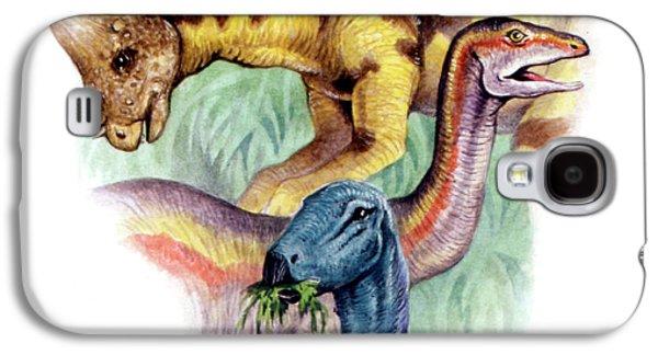 Ostrich Galaxy S4 Case - Cretaceous Herbivorous Dinosaurs by Deagostini/uig