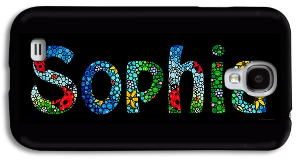Customized Baby Kids Adults Pets Names - Sophia Name Galaxy S4 Case by Sharon Cummings